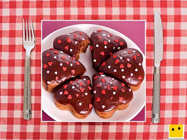 Recetas dulces de corazón. Muffins de chocolate