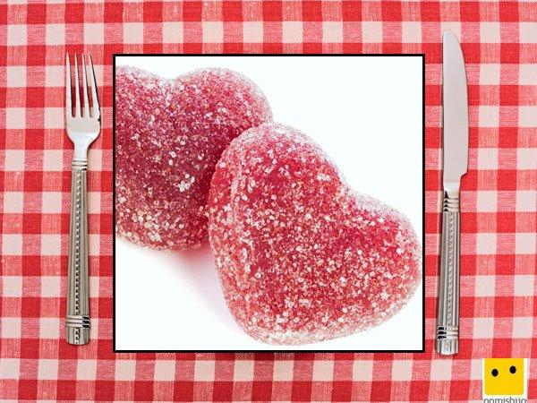 Recetas dulces para niños. Golosinas con azúcar en corazón