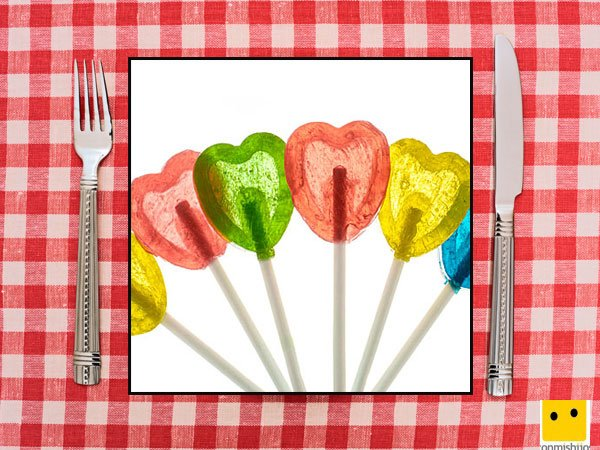 Recetas dulces de corazón. Piruletas de colores