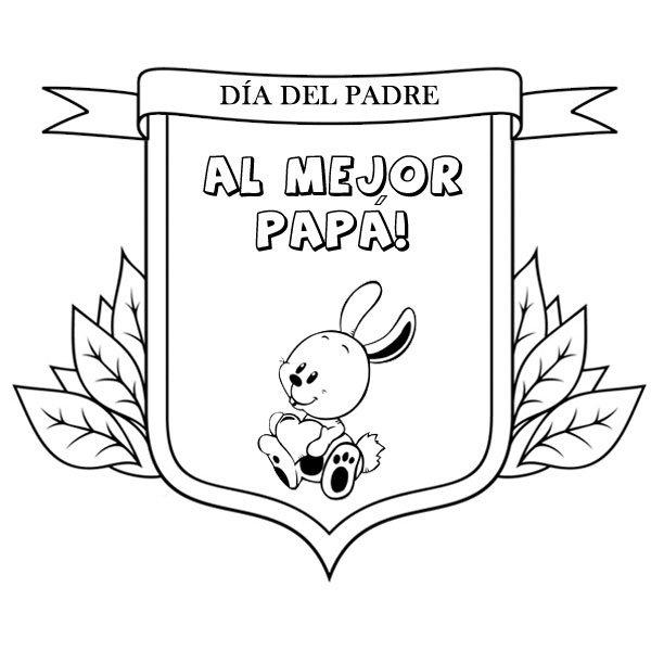 Dibujos Para Pintar Con Niños Medalla Al Mejor Padre