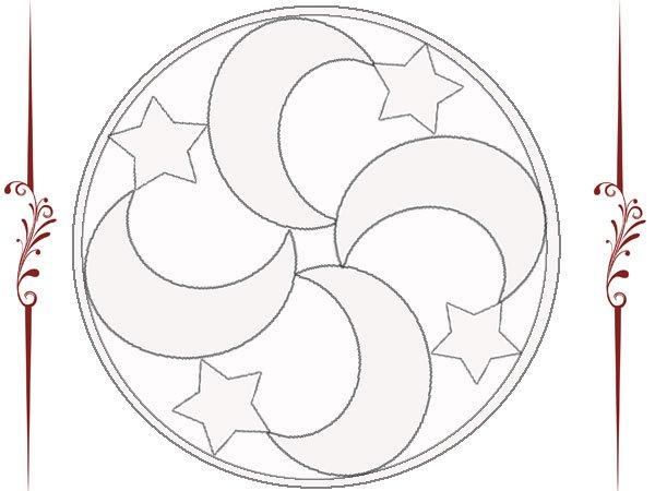 Mandala de lunas y estrellas