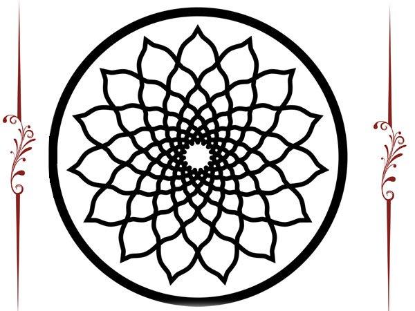 Mandala de formas geométricas para colorear