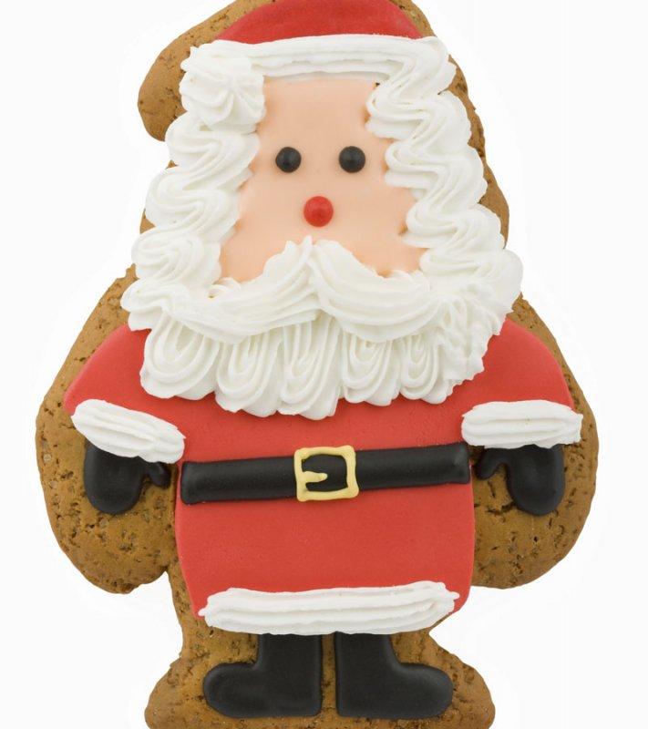 Papá Noel de galleta