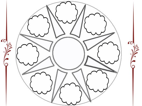 Dibujos De Sol Para Colorear E Imprimir: Mandala De Un Sol Y Nubes Para Imprimir