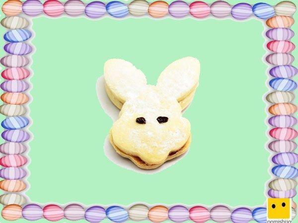 Decoración de galletas de Pascua. Conejo de Pascua relleno