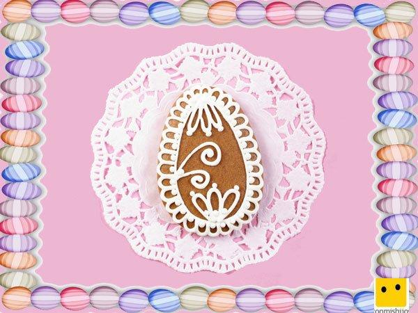 Decoración de galletas de Pascua. Huevos con azúcar