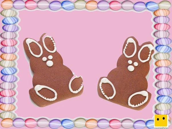 Decoración de galletas de Pascua. Conejos de jengibre