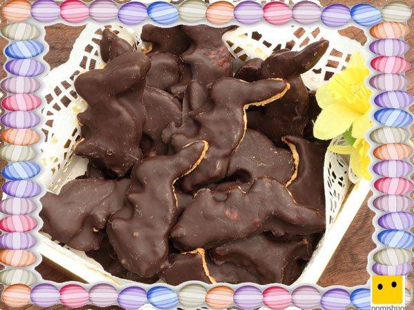 Decoración de galletas de Pascua. Conejos de chocolate
