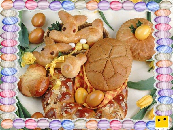 Decoración de galletas de Pascua. Conejos y huevos de pan