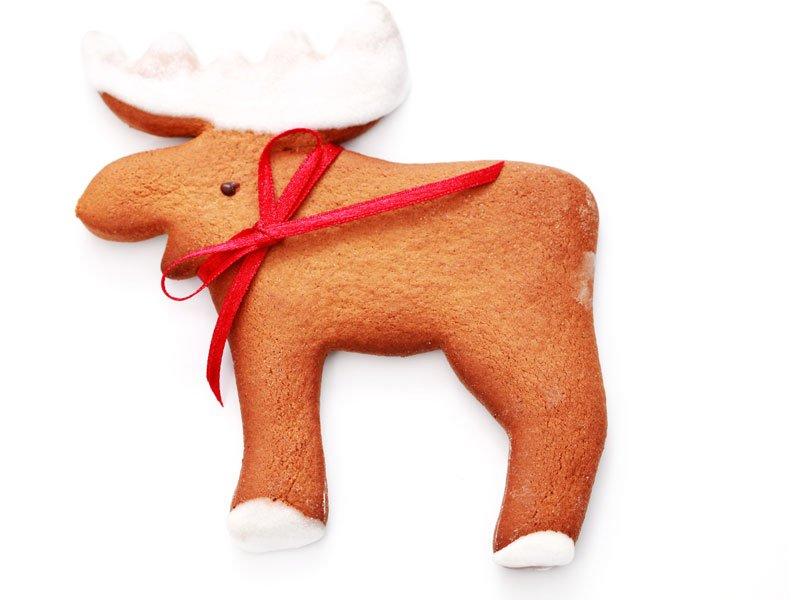 Reno de Papá Noel de galleta