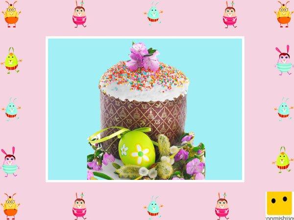 Decoración de muffins de Pascua. Huevos y flores