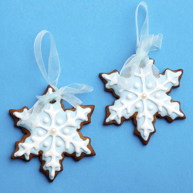 Copos de nieve de galleta