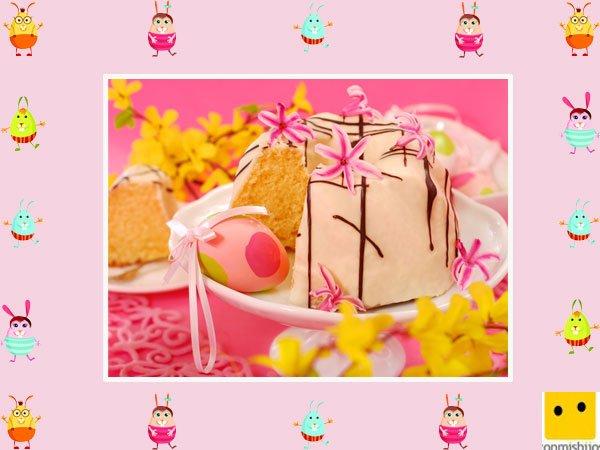 Decoración de tartas de pascua. Pastel de fresa