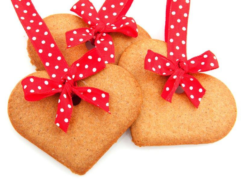 Corazón de Navidad de galleta