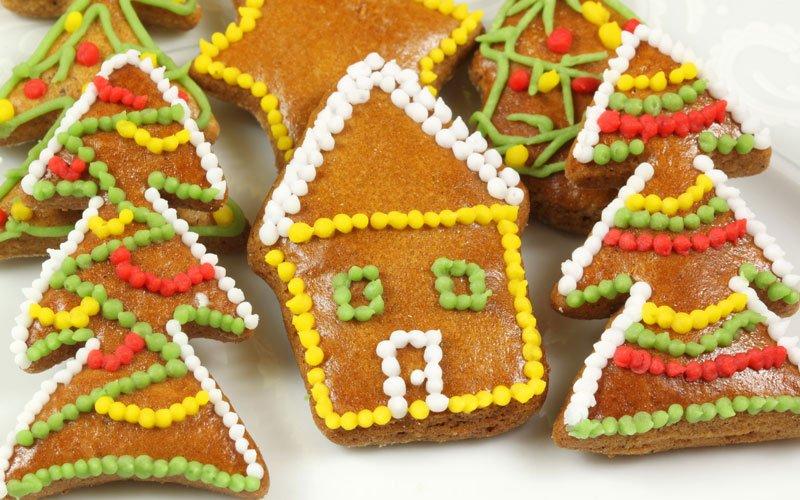 Casa en Navidad de galleta