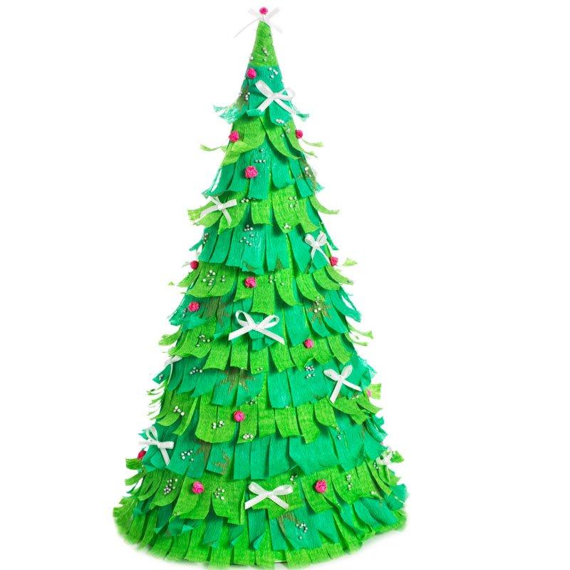 Rbol de navidad con flecos for Como hacer un arbol de navidad original