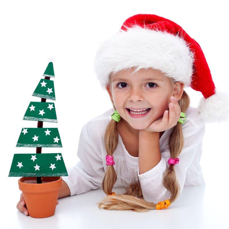 Árbol de Navidad en maceta