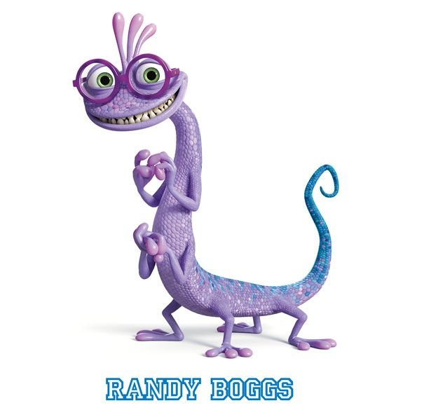 Personajes de la película Monstruos University. Randy Boggs