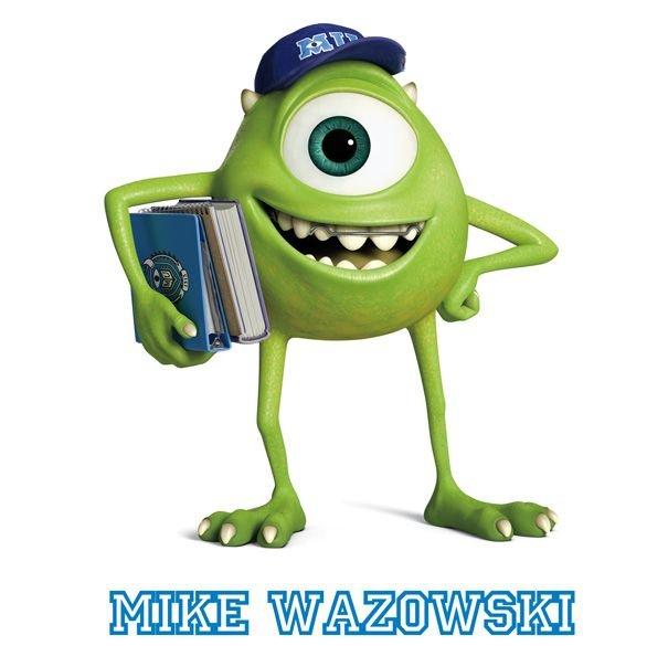 Personajes de la película Monstruos University. Mike Wazowski
