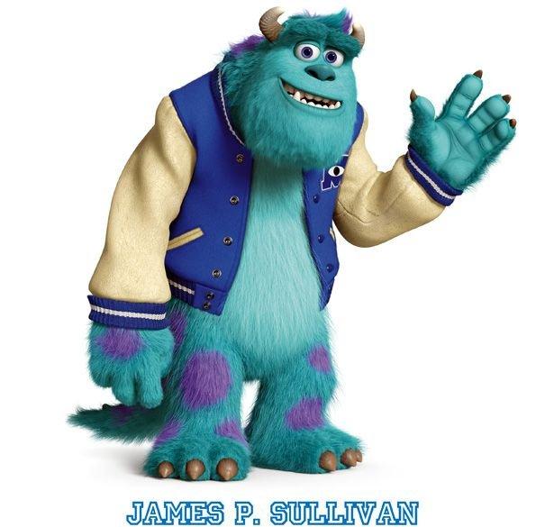 Personajes de la película Monsters University. Sulley