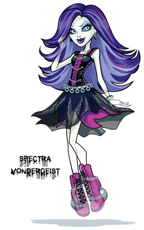 Conoce a los personajes de Monster High. Spectra Vondergeist