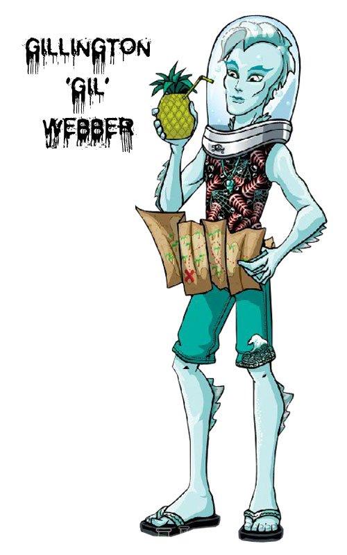 Conoce a los personajes de Monster High. Gillington 'Gil' Webber