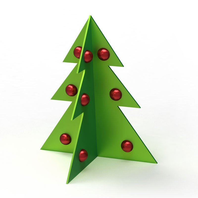 rbol de navidad en d