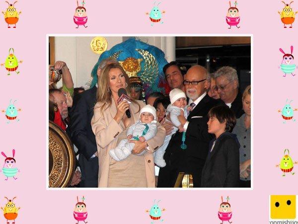 La cantante Celine Dion tiene hijos gemelos