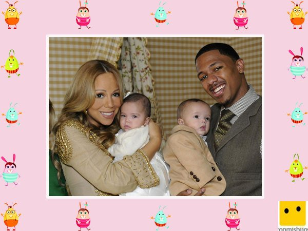 La cantante Mariah Carey y su marido con sus hijos mellizos