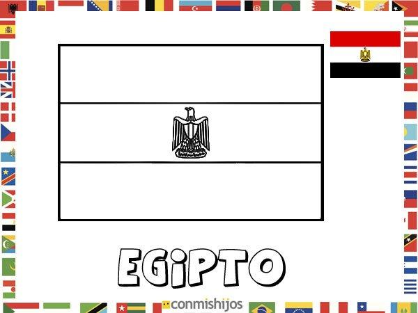 Niños De Paises Para Pintar: Bandera De Egipto. Dibujos De Banderas Para Pintar