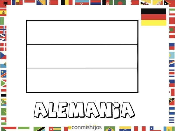 Bandera de Alemania. Dibujos de banderas para pintar