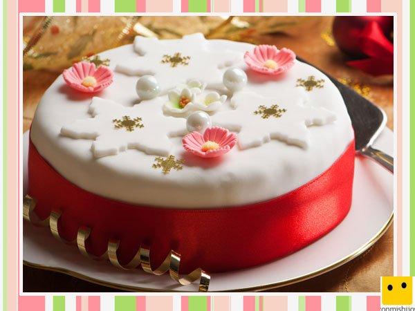 tarta de navidad decorada con fondant