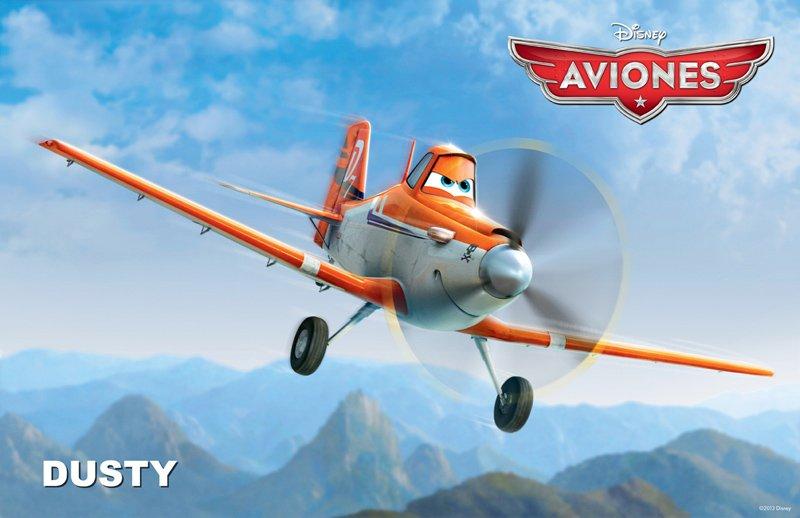 Conoce a los personajes de la película para niños 'Aviones'. Dusty