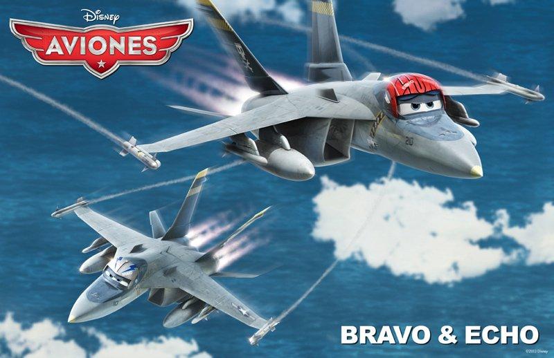 Conoce a los personajes de la película para niños 'Aviones'. Bravo & Echo