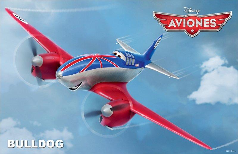 Conoce a los personajes de la película para niños 'Aviones'. Bulldog