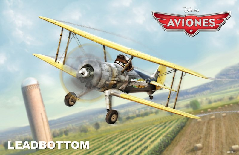 Conoce a los personajes de la película para niños 'Aviones'. Leadbottom