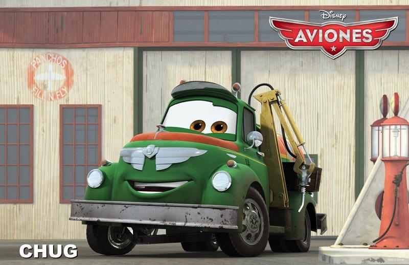 Conoce a los personajes de la película para niños 'Aviones'. Chug