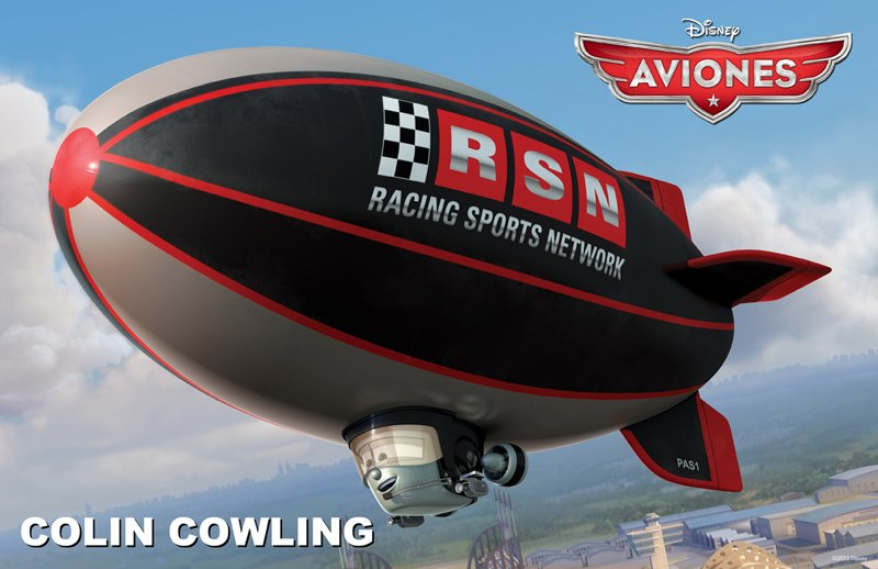 Conoce a los personajes de la película para niños 'Aviones'. Colin Cowling
