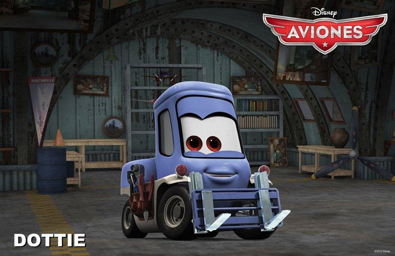 Conoce a los personajes de la película para niños 'Aviones'. Dottie