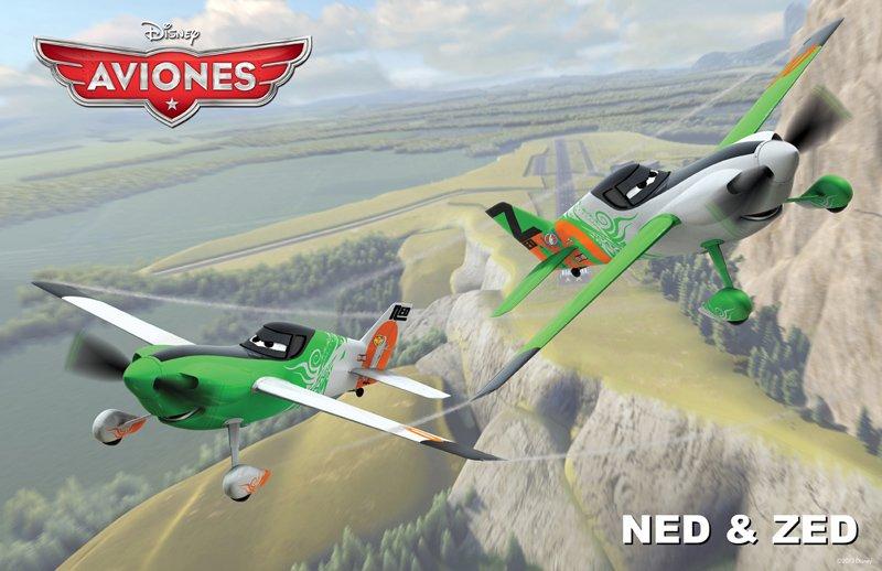 Conoce a los personajes de la película para niño 'Planes'. Ned & Zed