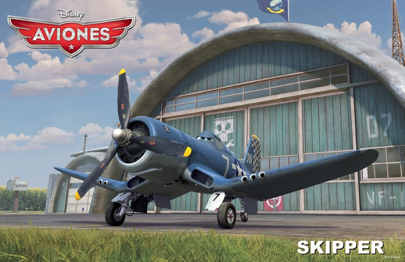 Conoce a los personajes de la película para niños 'Aviones'. Skipper
