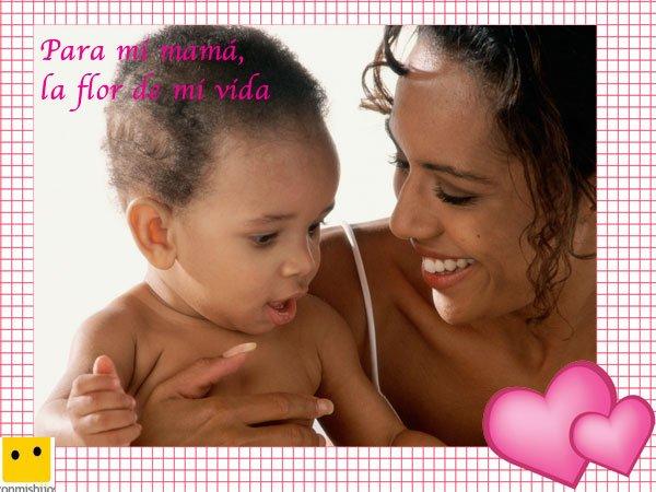 Bebé sonriente. Postales para el Día de la Madre