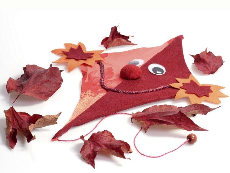 Cometa de hojas de otoño