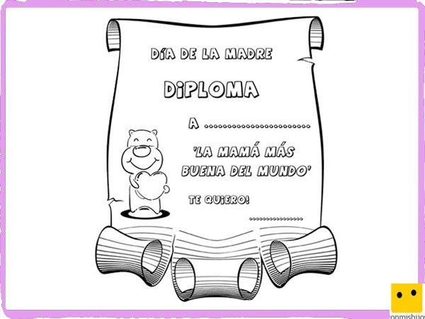Libreta De Dibujo Mandala Unicornio Papel Blanco: Dibujos Para Colorear. Diploma A La Madre Más Buena