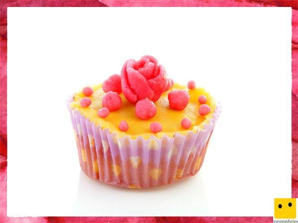 Cupcake de limón con perlas para el Día de la Madre