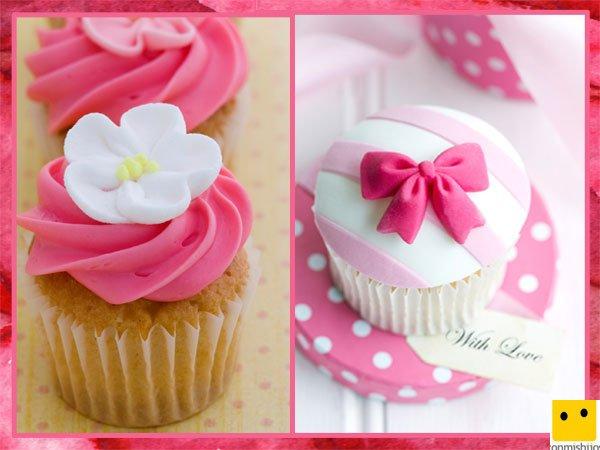 Cupcakes de buttercream y fondant para el Día de la Madre