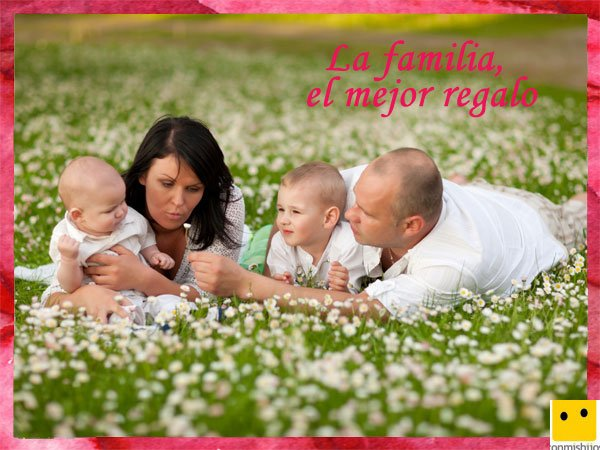 Tarjetas para el Día de la Familia. Amor entre padres e hijos