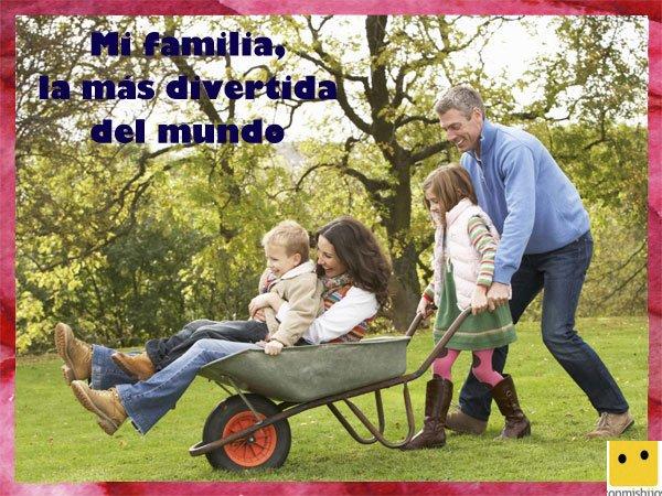 Tarjetas para el Día de la Familia. Diversión entre padres e hijos