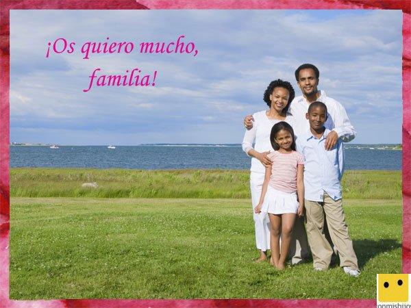 Tarjetas para el Día de la Familia. Felicitación para la familia