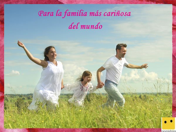 Tarjetas Para El Día De La Familia La Mejor Familia Del Mundo